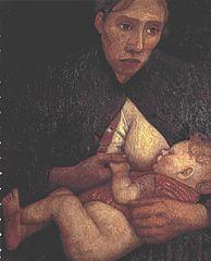 <em>Stillende Mütter</em> by Paula Modersohn-Becker (1876–1907).