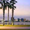 """San Diego palm trees sidewalk piers"" by Jon Sullivan"